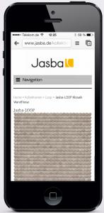 jasba.de macht dank Magento auch auf dem iPhone eine gute Figur