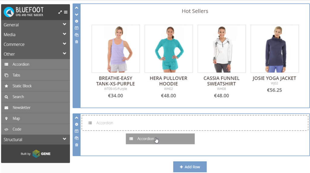 Bluefoot CMS Magento Drag and Drop