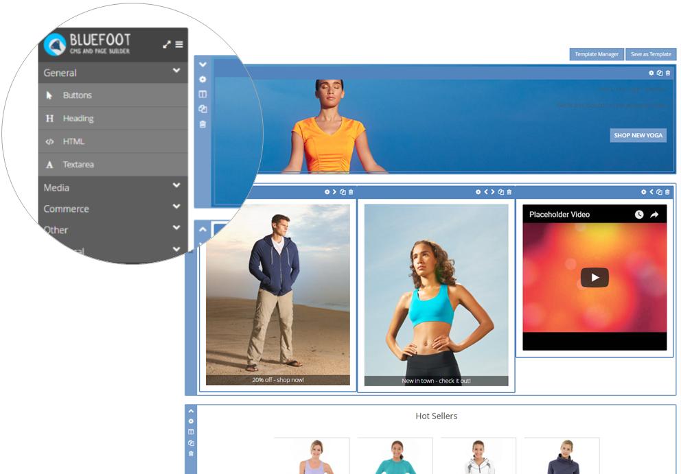 Bluefoot Magento CMS Page Editor